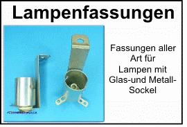 Lampenfassungen aller Art für Flipperlampen