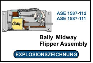 Bally-Midway Flipper Assembly ASE 1587-X