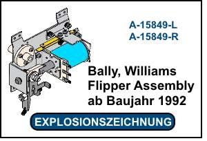 Bally-Williams Flipper Assembly ab 1992 EOS mit Goldkontakten